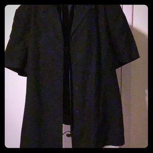 Style & Co black, short sleeve jacket, size 24W